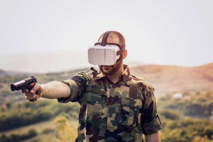 Virtual reality, Defence, VR