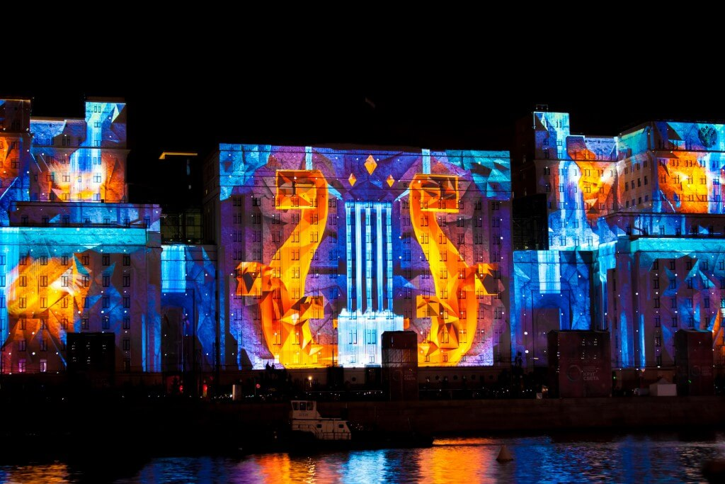 Image result for outdoor projection mapping.